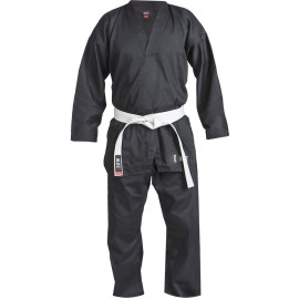 Dětské Kimono Plain V-Neck - černé