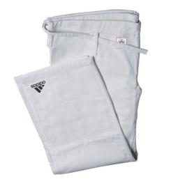 ADIDAS Kalhoty judo IJF - bílé