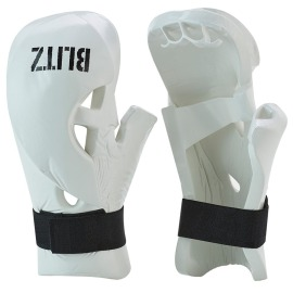 Taekwondo rukavice BLITZ Double Padded Dipped Foam - bílé