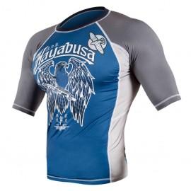 Rashguard HAYABUSA SHOWDOWN kr. rukáv - modrý/šedý