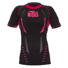 Dámské kompresní triko Bad Boy SPHERE - černá/růžová