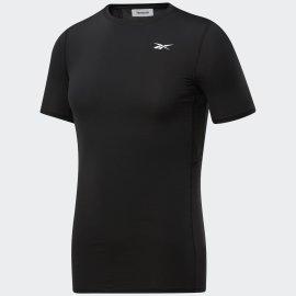 Pánské kompresní tričko REEBOK WOR SS COMP TEE BLACK - černé