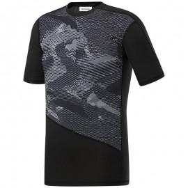 REEBOK Pánské kompresní tričko TS SS Comp AO - černé