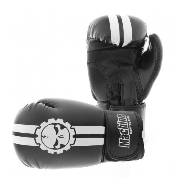 Boxerské rukavice Machine Fast - černo / bílé - Kůže