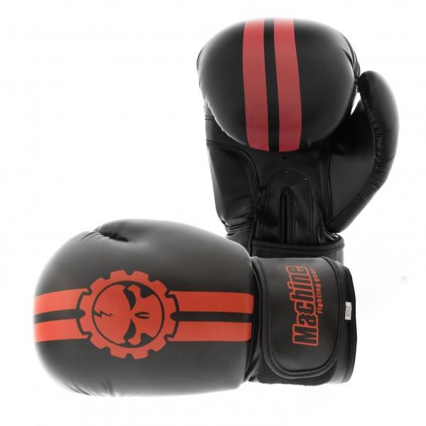 Boxerské rukavice Machine Fast - černo / červené - Kůže