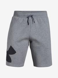 Pánské šortky UNDER ARMOUR RIVAL FLEECE LOGO SWEATSHORT - šedé