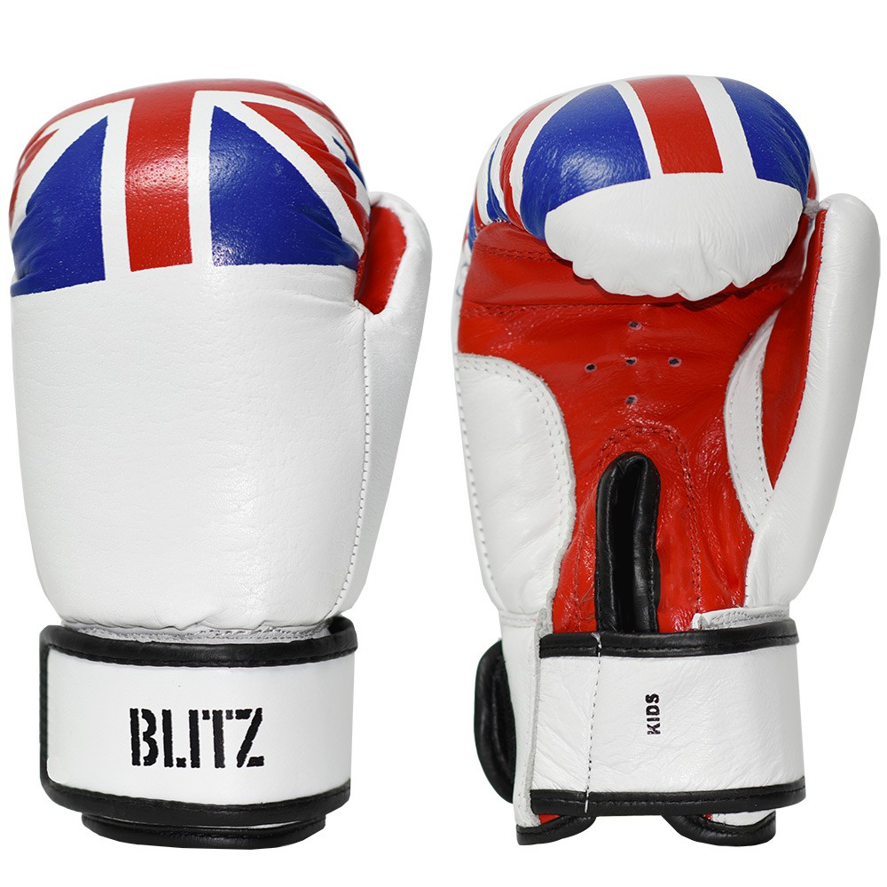 Dětské Boxerské rukavice BLITZ kůže 6oz - Britská vlajka