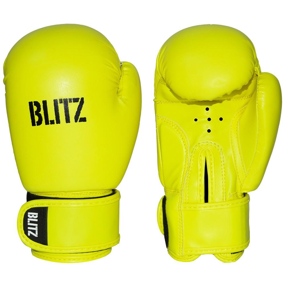 Dětské Boxerské rukavice BLITZ PU - neonově žluté