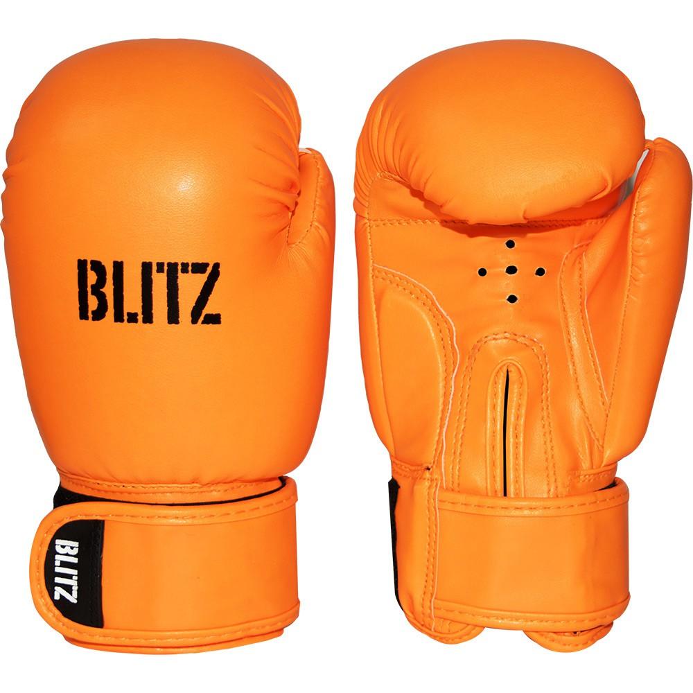 Dětské Boxerské rukavice BLITZ PU - neonově oranžové