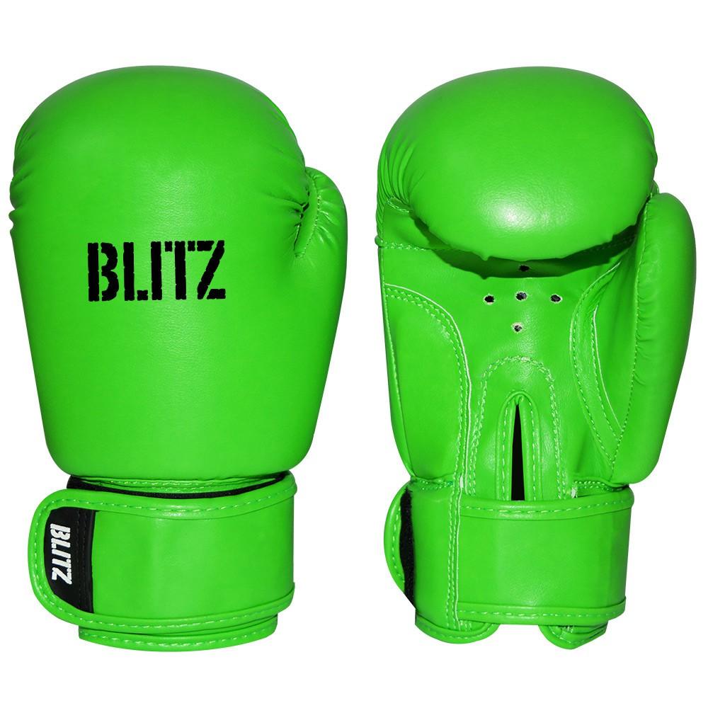 Dětské Boxerské rukavice BLITZ PU - neonově zelené