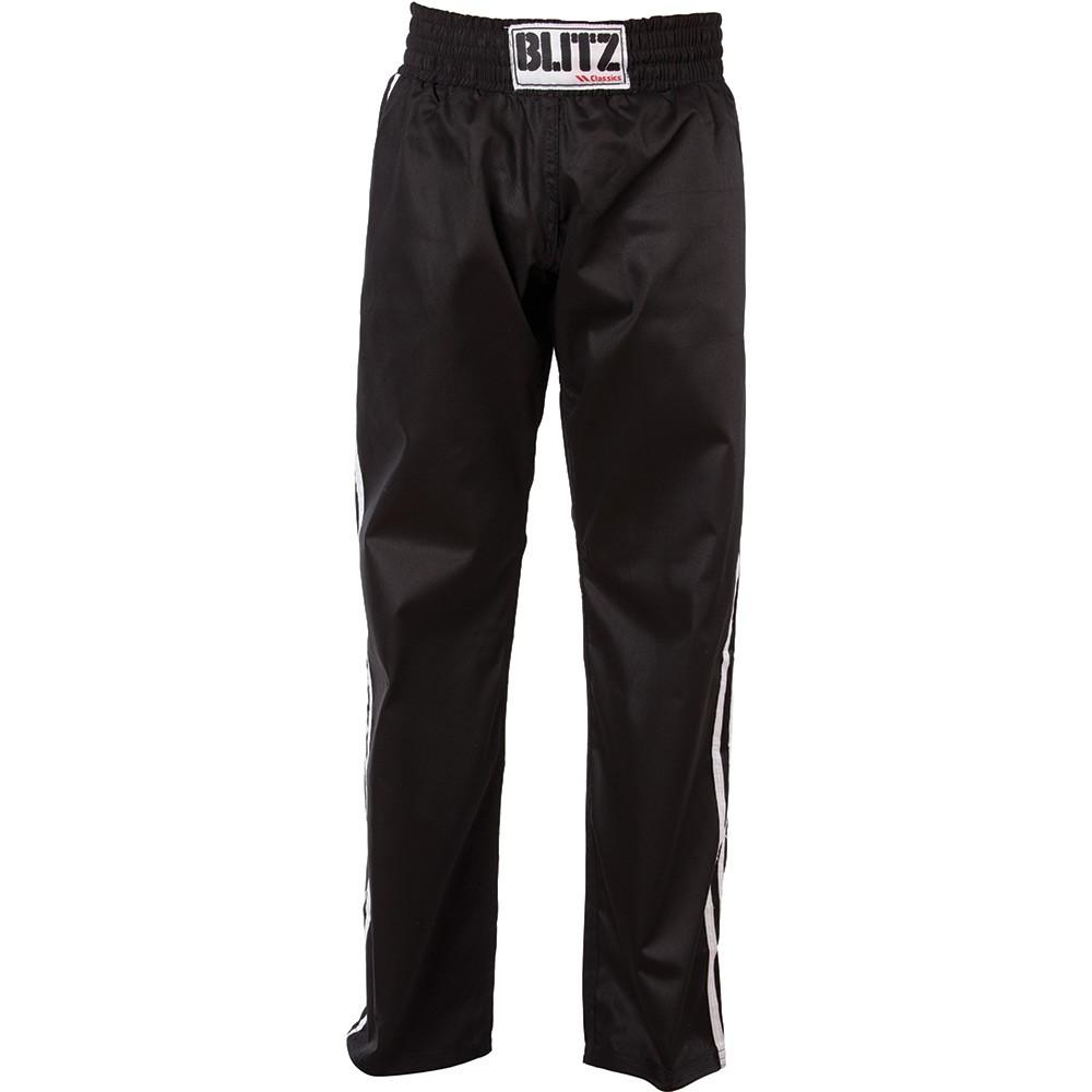 Saténové kalhoty BLITZ FULL CONTACT - ČERNO/BÍLÉ